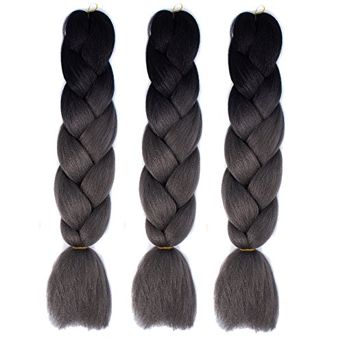 1PC Womens Gradient Long Braid Wigs High Temperature Silk Party Hair Wigs Extensions (L) ()