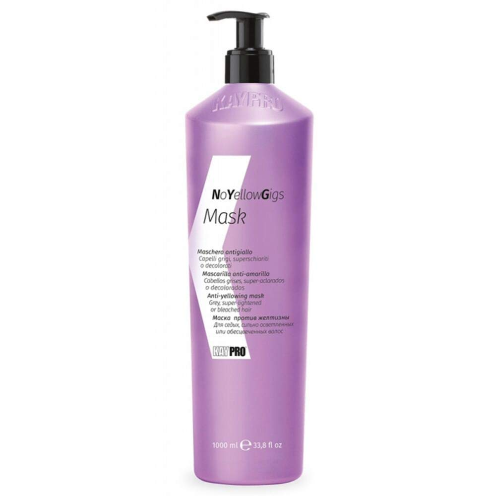 KEPRO Kay Pro NO YELLOW GIGS Anti-Yellow MASK for blonde, bleached or grey hair 1000ml