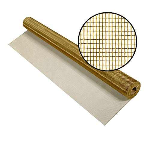 Brite Bronze / Copper Insect Screen 24 Inch x 25 Ft by PHIFER