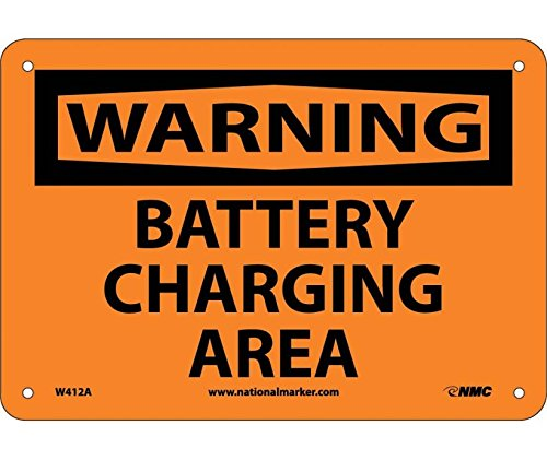 Warning, Battery Charging Area, 7X10.040 Alum