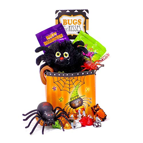 'Bugs and Kisses' Halloween Candy Chocolate Hershey Kisses Jack O' Lantern Gift Basket for $<!--$30.95-->