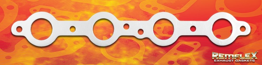 Remflex 2048 Exhaust Gasket for Chevy V8 Engine, (Set of 2)