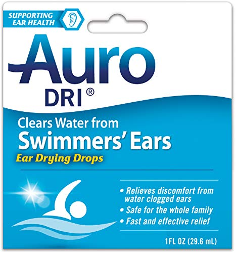 Auro Dri Swimmer's Ears Drying Drops | Relives Discomfort from water clogged ears | 1 oz | Pack of 6 (Drops To Get Water Out Of Ear)