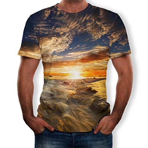 Big Sale! BBesty Men's Summer Fashion New Full 3D Printed T Shirt Plus Size S-3XL Cool Printing Top Blouse