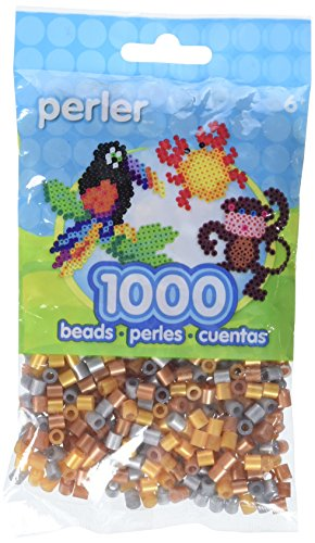 - Perler Beads Fuse Beads for Crafts, 1000pcs, Metallic Mix