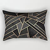 slimmingpiggy geometry cushion cases 12 x 20 inches / 30 by 50 cm best choice for christmas,bench,divan,monther,club,deck chair with each side