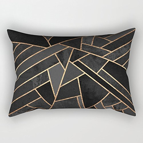 Uloveme Geometry Cushion Covers 16 X 24 Inches / 40 By 60 Cm Gift Or Decor For Relatives,bench,home Theater,floor,teens,boys - 2 Sides
