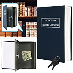 Dictionary Diversion Metal Key Lock Book Safe