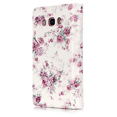 Sunroyal® Estilo libro Samsung Galaxy J5 (2016 ) Funda Case PU Cover Carcasa Accesorios Set, Premium Luxury Alta Calidad Flip Leather Telefono Plegable Caja de la Carpeta Bolsa de Moda Cubierta Fina d A-05