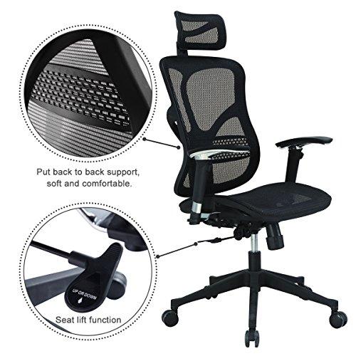 Argomax Mesh ergonomic office chair (EM-EC001) - PAIN RELIEF