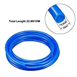 uxcell Pneumatic Hose 10mm OD 6.5mm ID Polyurethane PU Air Hose Pipe Tube 10 Meter 32.8ft Blue