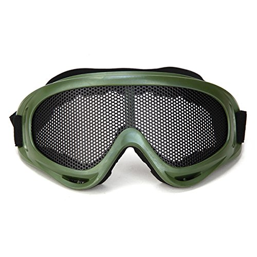 Tactical Net Metal Mesh Eyes Protection Wind X400 Goggles Glasses for Paintball (Textilene Recliner Chair)