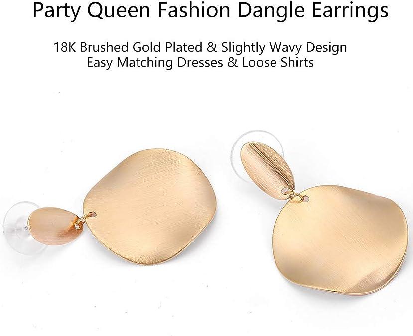 Earrings Large Silver disc shiny wavy