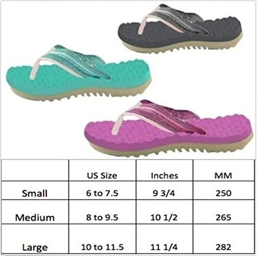 RunningontheWall Recovery Sandals, Running Flip Flop, Massaging Post-Run Footwear B071P6YSBJ Medium|Black-13.1