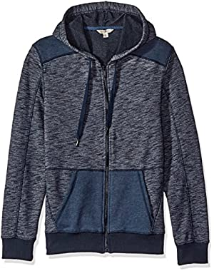 Calvin Klein Jeans Men's Cross Dye French Terry Full Zip Hoodie Sweatshirt