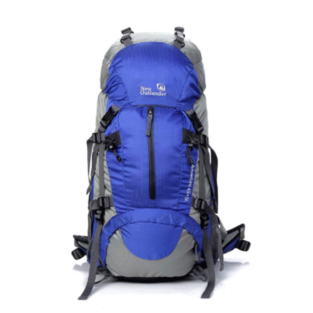 YONGMEI アウトドアバックパック - 多機能ナイロン防水ショルダースポーツバックパック (色 : 青, サイズ さいず : 64cm*31cm*16cm) 64cm*31cm*16cm 青 B07QKCS29L