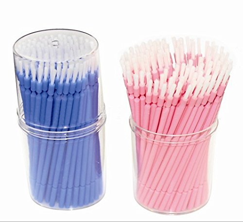 400 PCS Disposable Micro Applicators Brush for Makeup and Personal Care (Pink)