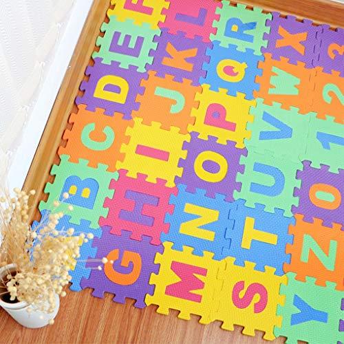 (36PCS DIY Puzzle Play Mat Baby EVA Foam Children Soft Developing Floor Pad Crawling Rugs Carpet Playmat Baby Toys Games Tapete)