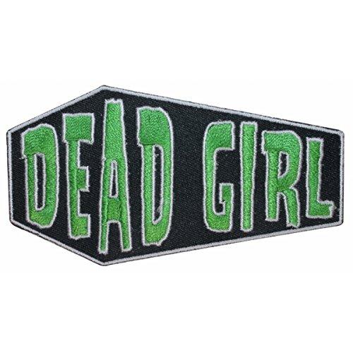 Dead Girl Coffin Casket Horror Kreepsville Embroidered Iron On Applique Patch (Coffin Patch)