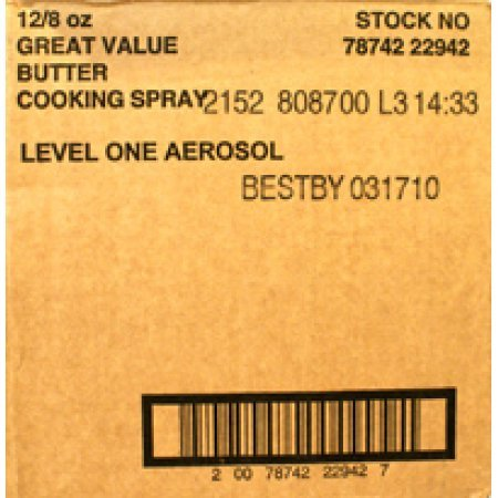 PACK OF 12 - Great Value Butter Flavored Cooking Spray, 8 oz by Great Value (Image #2)