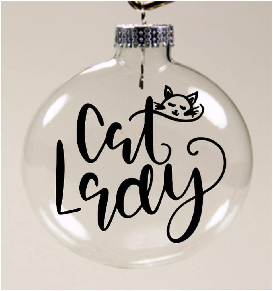 Cat Lady Christmas Ornament