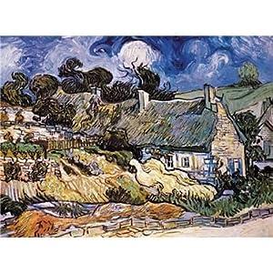 Puzzle Editions Ricordi 2000 Pezzi Thatched Cottages At Cordeville Vincent Van Gogh