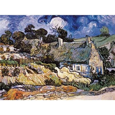 Puzzle Editions Ricordi 2000 Pezzi Thatched Cottages At Cordeville Vincent Van Gogh