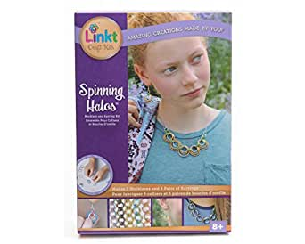 Linkt Craft Kit Spinning Halos (5 Necklaces & 5 Pairs of Earrings)