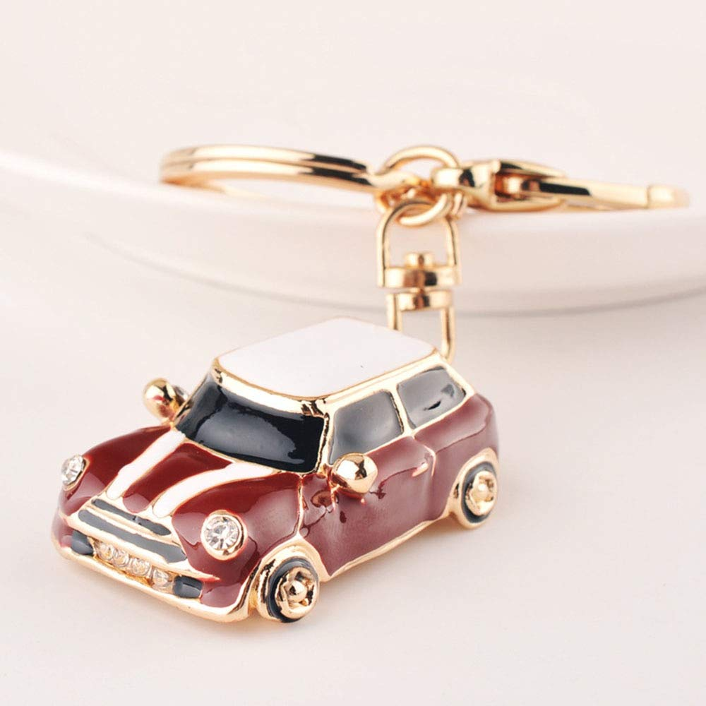 c58888d864 Amazon.com: Gold Happy Car Alloy Keychain Keyring Pendant Car Model Key  Chain Ring Holder for Mini Cooper S JCW One Countryman Accessories: Home &  Kitchen