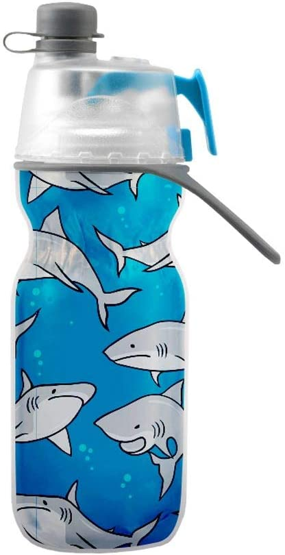 O2COOL Bottle Kids Mist N' Sip, Sharks