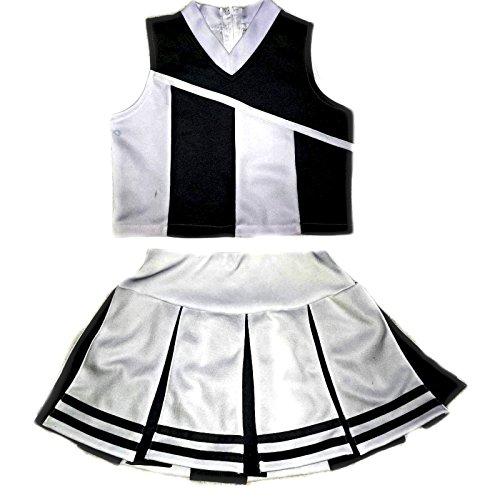 e696326031 Little Girls' Cheerleader Cheerleading Outfit Uniform Costume Cosplay  White/Black (M/5-8)