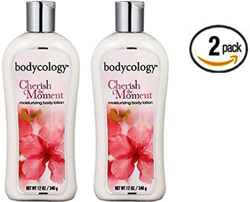 Moments Moisturizing - Bodycology Cherish the Moment (formerly Exotic Cherry Blossom) Body Lotion 12 oz Bodycology (Pack of 2)