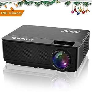 YABER 4200 Lúmenes Proyector Soporta Full HD 1080P Proyector Cine en Casa con Dos Altavoces Estéreo Alta Fidelidad y Sistema de Refrigeración de Tres ...