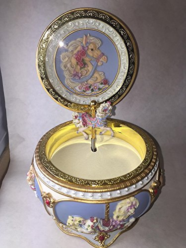 Beautiful Carousel Horse Hinged Trinket Box by San Francisco Music Box