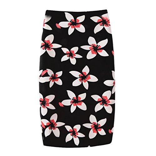 Yuanu Femme Doux Confortable Jupe Courte Serre Mode Impression Numrique Zipper Jupe Moulante Impression Style 10