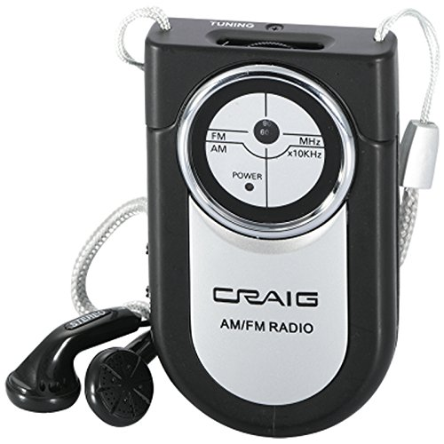 Craig Portable Pocket AM/FM Radio (CR4116) - Color May Vary
