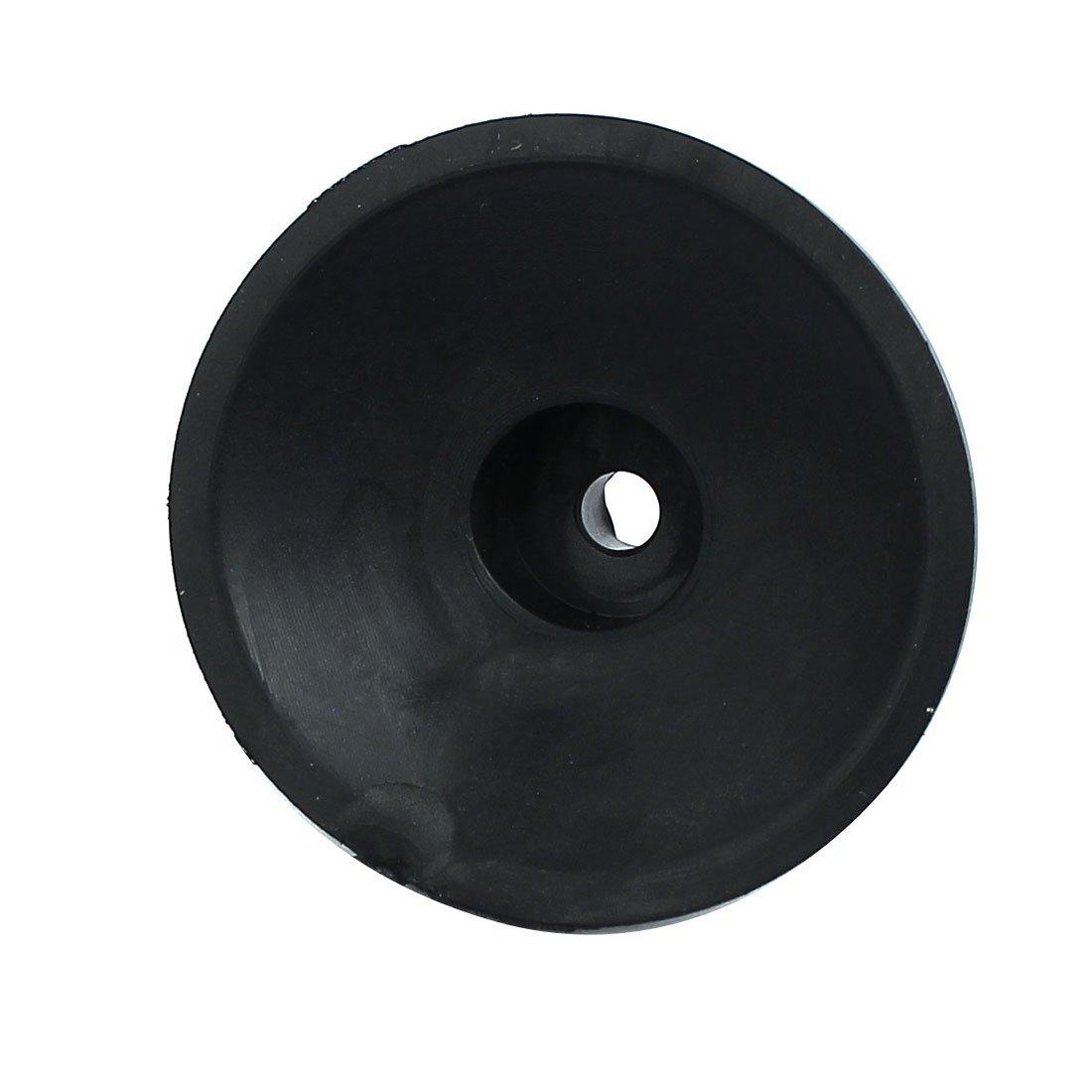 eDealMax 47mmx18mm Air Compressor Replacement Foot Pad Black 4pcs