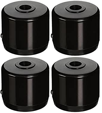 "RAB Lighting MCAP3B Mighty Post Cap for 3"" Pipe, 2-7/8"" OD, Black (Pack of 4)"