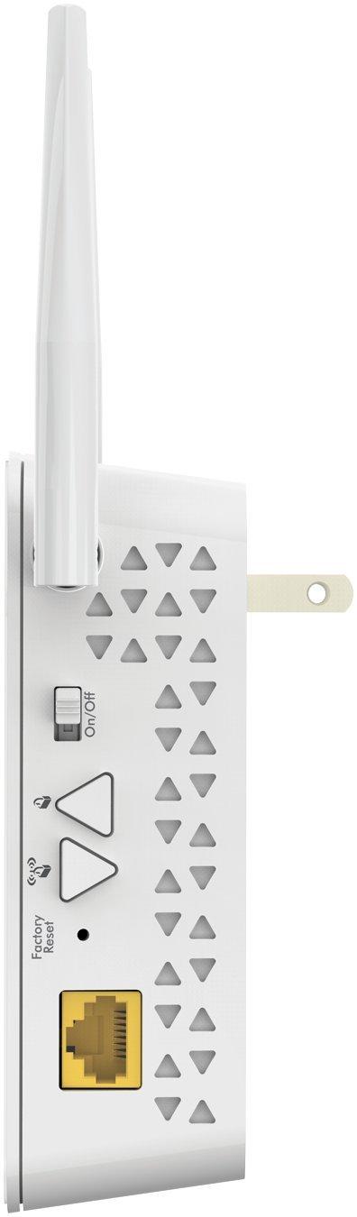 White PLPW1000-100NAS NETGEAR PowerLINE Wi-Fi 1000 Extra Outlet