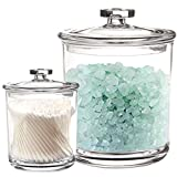Youngever 2 Pack Clear Plastic Apothecary Jars, 1