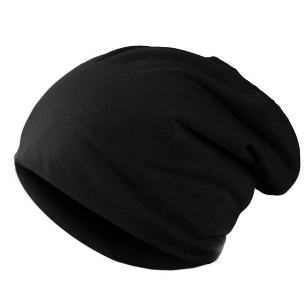 Unisex Knitted Winter Hats for Warm Casual Warm Thicken Velvet Beanie Solid Color Knitted Hat