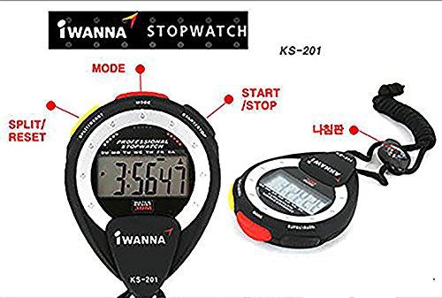 IWANNA ストップ ウオッチ 時計 タイマー KS-201
