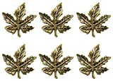 DII Thanksgiving of Fall Napkin Rings for Dinner Parties, Weddings Receptions, Family Gatherings, or Everyday Use, Set Your Table With Style - Maple Leaf, Set of 6