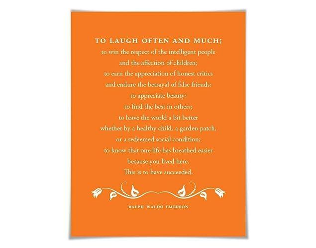 Amazoncom Ralph Waldo Emerson Quote Art Print 60 Colours3 Sizes