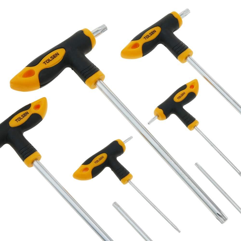 Set di 8 cacciaviti con impugnatura a T chiave T10 T15 T20 T25 T30 T40 T45 T50 di Tolsen