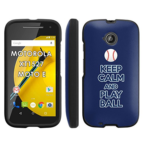 Keep Calm and Play Ball - Tampa Bay - Motorola Moto E LTE 2015 2nd generation XT1527 Slim Guard Armor Black Phone Case by Mobiflare