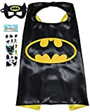 Superhero Costume and Dress Up for Kids - Satin Cape and Felt Mask (Batman)