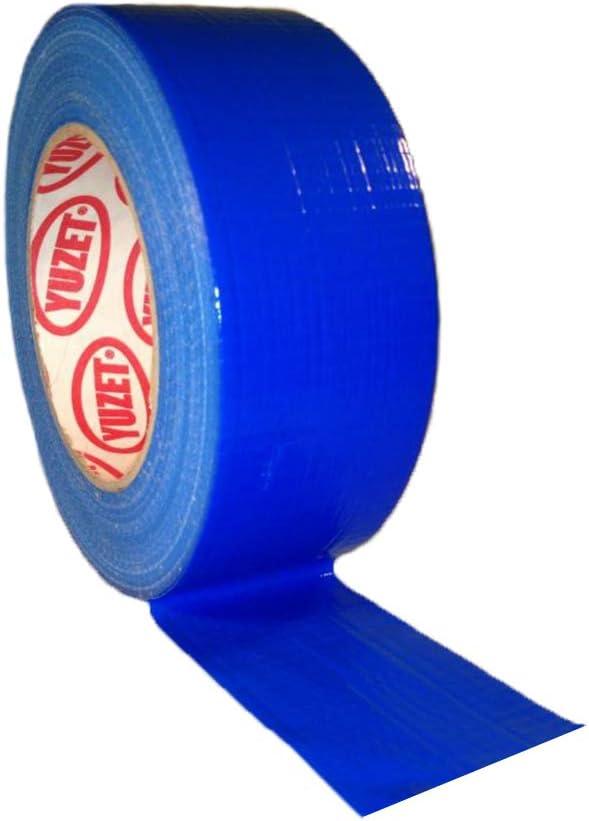 48 mm x 50 m Cinta americana Cable-Tex color azul