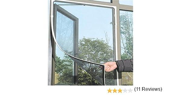 Homiki /Mosquitera especial para ventana con velcro Forma una excelente barrera para protegerse de los insectos al tiempo que deja circular el aire