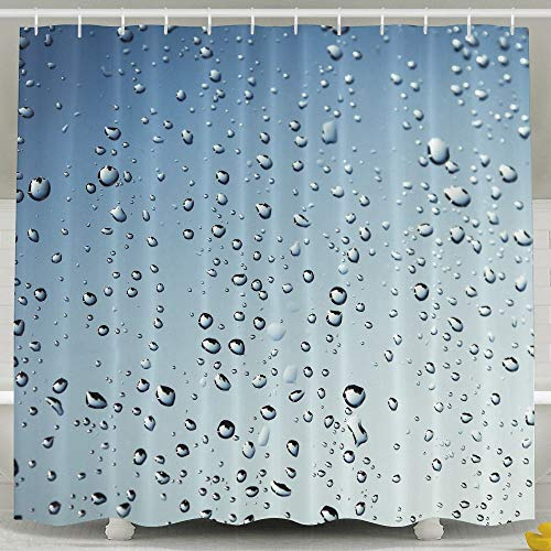 Jianyue Raindrops Shower CurtainBath Curtains Bath DecorationsShower Curtain For BathroomPolyester Fabric